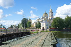 Déserts de Nilo-Stolobenskaya de lac Seliger, Russie images libres de droits
