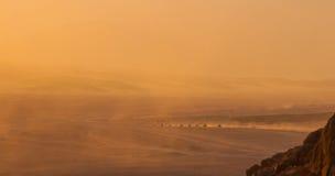 Déserts et paysage de dunes de sable au coucher du soleil photo stock