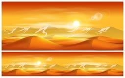 Déserts et tempêtes de sable illustration libre de droits