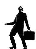 Désespoir complaigning de colère d'homme de silhouette Photo libre de droits