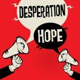 Désespoir contre l'espoir illustration libre de droits