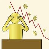 Désespoir de crise financière illustration stock