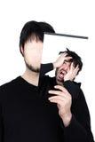 Désespoir de deux visages Images stock