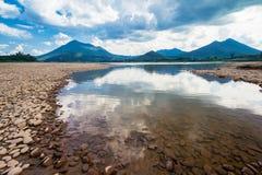 Déshydratation de la lagune Photographie stock libre de droits