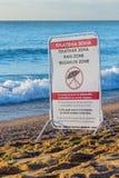 Désignation du secteur payé de plage image stock