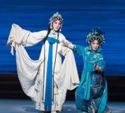 """Désintégration d'acte d'amour-Le septièmes de soeur du  blanc d'Opera""""Madame Snake†de familles-Kunqu Photo stock"""