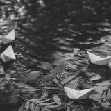Désir d'automne Feuilles colorées sur l'eau photos libres de droits