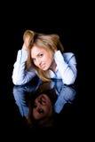 Désir et concept de flirt, femelle attirante Photographie stock libre de droits