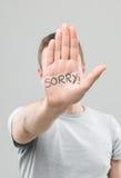 Désolé ! Images stock