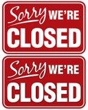 Désolé nous sommes fermés Photo stock