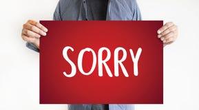 DÉSOLÉ pardonnez à échouer de regret oh là là ! le regret faux Apolo d'erreur de défaut photos libres de droits