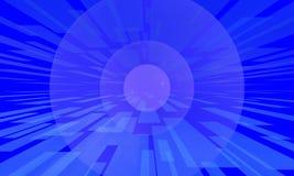 Désordre bleu des barres et des sphères Image libre de droits