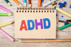 Désordre d'hyperactivité de déficit d'attention ou concept d'ADHD photos libres de droits