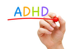 Désordre d'hyperactivité de déficit d'attention d'ADHD Photos libres de droits