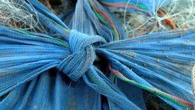 Désordre des filets de pêche embrouillés par nylon image stock