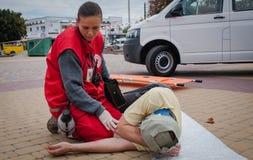 Détachement de formation de la Croix-Rouge Photo libre de droits