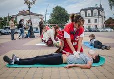 Détachement de formation de la Croix-Rouge Image stock