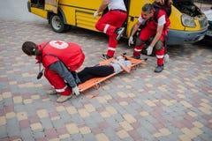 Détachement de formation de la Croix-Rouge Image libre de droits