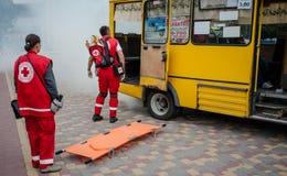 Détachement de formation de la Croix-Rouge Images libres de droits