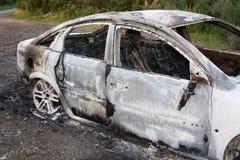 Détail à l'extérieur brûlé de véhicule. Photos stock