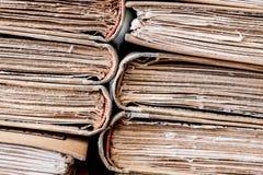 Détail âgé par vintage classique de pile de livres de lecture Photo libre de droits