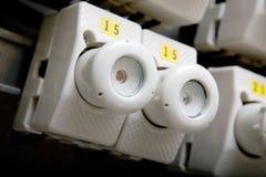 Détail électrique de rupteur image libre de droits
