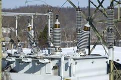 Détail électrique de sous-station image libre de droits