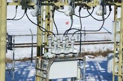 Détail électrique de sous-station images stock