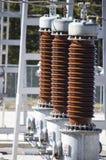 Détail électrique de sous-station de distribution Image libre de droits