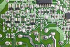 Détail électronique de macro de circuits intégrés Backgro de technologie images stock