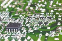 Détail électronique de macro de circuits intégrés Backgro de technologie photos stock