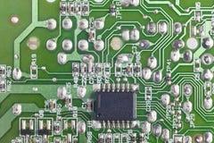 Détail électronique de macro de circuits intégrés Backgro de technologie photos libres de droits
