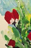 Détail abstrait de peinture colorée Image stock