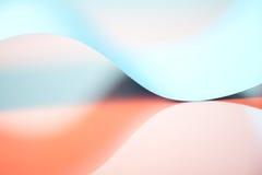 Détail abstrait de structure ondulée de papier coloré photographie stock libre de droits