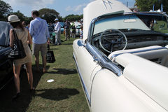 Détail américain de luxe classique de portière de voiture Image libre de droits