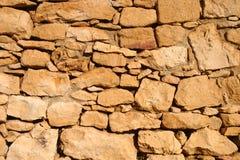 Détail antique de mur de roche Images stock