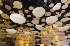 Détail architectural à l'intérieur de pavillon du Brunei à l'expo 2015 dans Mila images libres de droits