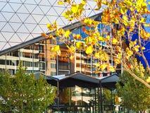 Détail architectural, arène moderne de Perth RAC, Perth CBD, Australie occidentale photos stock