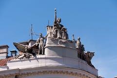 Détail architectural avec le thème socialiste Photos libres de droits