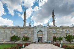 Détail architectural Built par l'architecte Mimar Sinan entre la mosquée 1569 et 1575 de Selimiye dans la ville d'Edirne, Turquie photographie stock