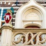 Détail architectural d'hôtel de ville d'Alkmaar image libre de droits