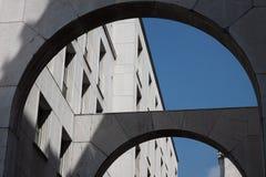 Détail architectural d'un bâtiment historique images libres de droits