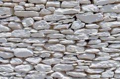 Détail architectural d'un mur de pierres sèches, île de Kythnos, Cyclades, Grèce Photographie stock libre de droits