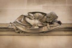 Détail architectural de court suprême Westminster, Parliament Square, Londres, Angleterre, le 15 juillet photos libres de droits