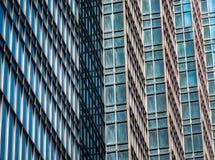 Détail architectural de gratte-ciel moderne grand images stock
