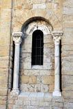 Détail architectural de l'église du Saintes-Maries-de-la-Mer Photos stock