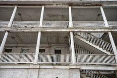 Détail architectural de l'hôtel de cintreuse à Laredo le Texas images libres de droits