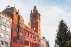 Détail architectural de l'hôtel de ville de la balle Photo libre de droits