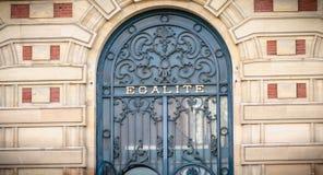 Détail architectural de l'hôtel de ville de Versailles, France photo libre de droits