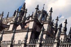 Détail architectural de la cathédrale de Santa mars Images libres de droits